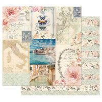 Prima - Capri Collection - 12 x 12 Double Sided Paper with Foil Accents - Marina Grande
