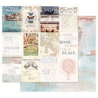 Prima - Capri Collection - 12 x 12 Double Sided Paper with Foil Accents - Grotta Bianca