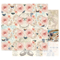 Prima - Capri Collection - 12 x 12 Double Sided Paper with Foil Accents - Punta Del Monaco