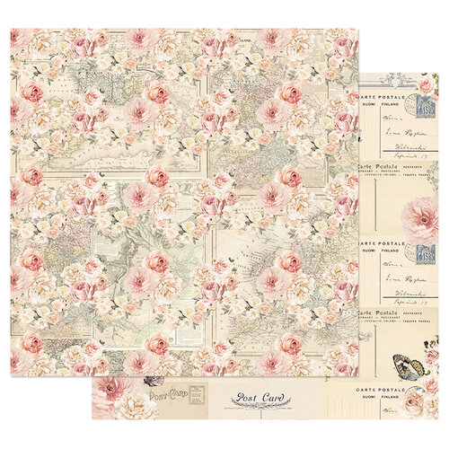 Prima - Capri Collection - 12 x 12 Double Sided Paper with Foil Accents - Arco Naturale