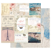 Prima - Capri Collection - 12 x 12 Double Sided Paper with Foil Accents - Sorrento