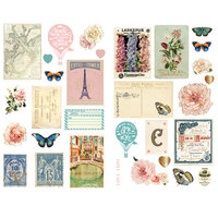 Prima - Capri Collection - Chipboard Stickers with Foil Accents