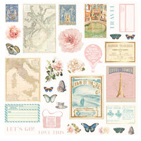 Prima - Capri Collection - Ephemera with Foil Accents