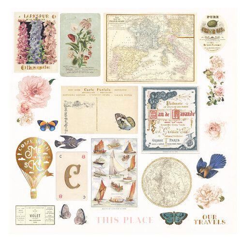 Prima - Capri Collection - Ephemera II with Foil Accents