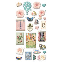 Prima - Capri Collection - Puffy Stickers