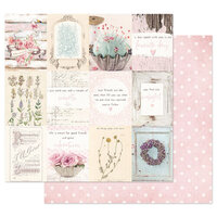 Prima - With Love Collection - 12 x 12 Double Sided Paper - True Friendship