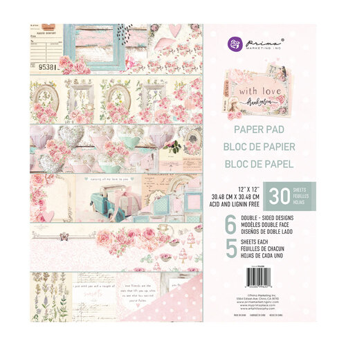 Prima - With Love Collection - 12 x 12 Paper Pad