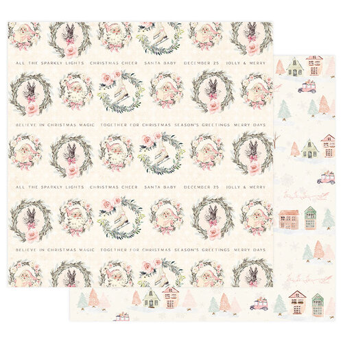 Prima - Sugar Cookie Christmas Collection - 12 x 12 Double Sided Paper with Foil Accents - Together For Christmas