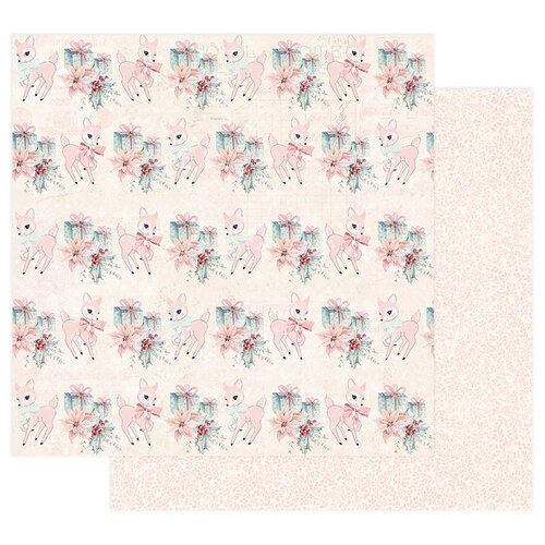 Prima - Sugar Cookie Christmas Collection - 12 x 12 Double Sided Paper with Foil Accents - Beautiful Christmas