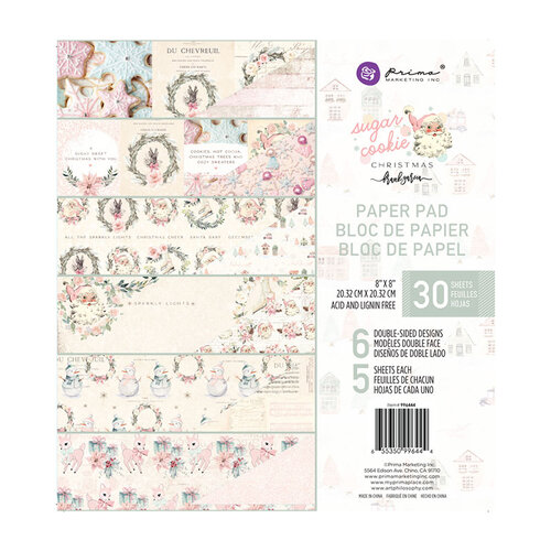 Prima - Sugar Cookie Christmas Collection - 8 x 8 Paper Pad
