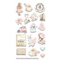 Prima - Sugar Cookie Christmas Collection - Puffy Stickers