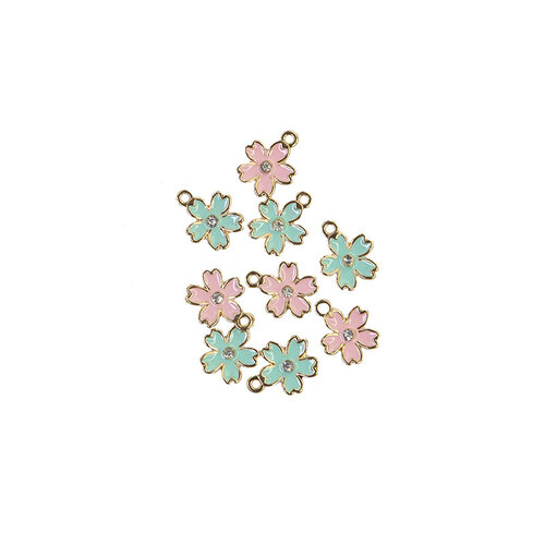 Prima - Sugar Cookie Christmas Collection - Enamel Charms - Flower