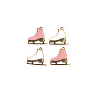 Prima - Sugar Cookie Christmas Collection - Metal Charms - Skates