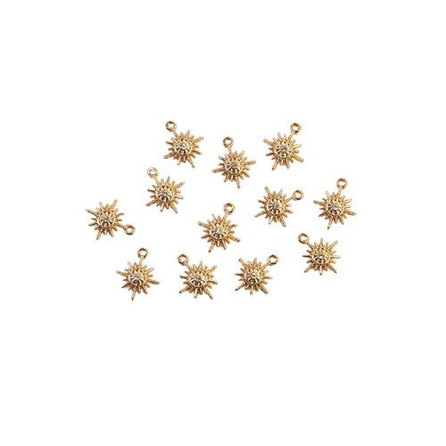 Prima - Sugar Cookie Christmas Collection - Metal Charms - Snowflakes