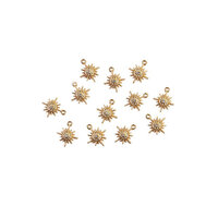 Prima - Sugar Cookie Christmas Collection - Metal Charms - Snowflakes