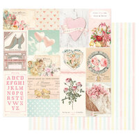 Prima - Magic Love Collection - 12 x 12 Double Sided Paper - All My Heart All For You