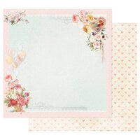 Prima - Magic Love Collection - 12 x 12 Double Sided Paper - On A Pink Cloud