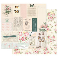 Prima - My Sweet Collection - 12 x 12 Double Sided Paper - I Will Go Wherever You Go