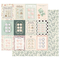 Prima - My Sweet Collection - 12 x 12 Double Sided Paper - Partisan Buttons