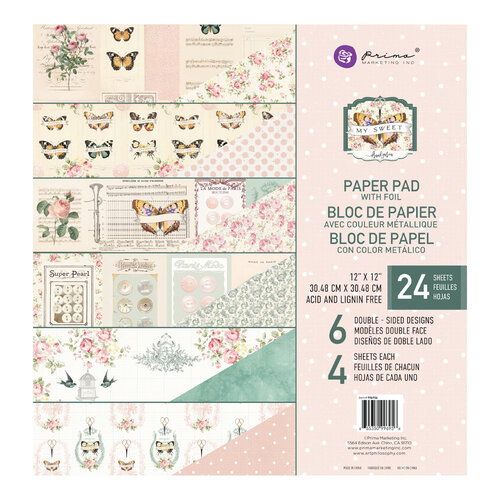 Prima - My Sweet Collection - 12 x 12 Paper Pad
