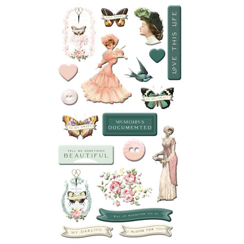 Prima - My Sweet Collection - Puffy Stickers