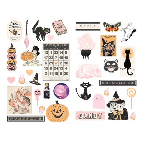 Prima - Thirty-One Collection - Chipboard Stickers with Foil Accents
