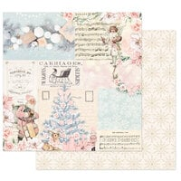 Prima - Christmas Sparkle Collection - 12 x 12 Double Sided Paper - Icy Blue Christmas
