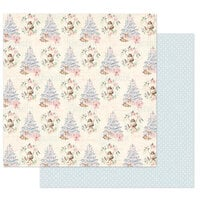 Prima - Christmas Sparkle Collection - 12 x 12 Double Sided Paper - Christmas Greetings