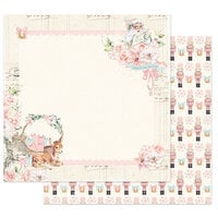 Prima - Christmas Sparkle Collection - 12 x 12 Double Sided Paper - Pink Peppermint