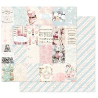 Prima - Christmas Sparkle Collection - 12 x 12 Double Sided Paper - Christmas Sweet