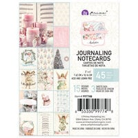 Prima - Christmas Sparkle Collection - 3 x 4 Journaling Cards