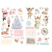 Prima - Christmas Sparkle Collection - Chipboard Stickers