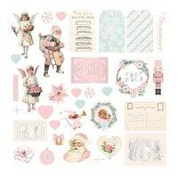 Prima - Christmas Sparkle Collection - Ephemera - Set 01