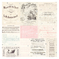 Prima - Christmas Sparkle Collection - 12 x 12 Specialty Paper - Vellum