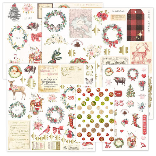 Prima - Christmas in the Country Collection - Embellishment Kit