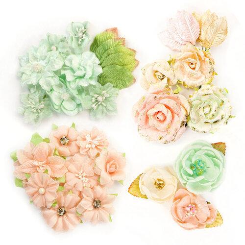 Prima - Santa Baby Collection - Christmas - Flower Embellishments - Kit 1