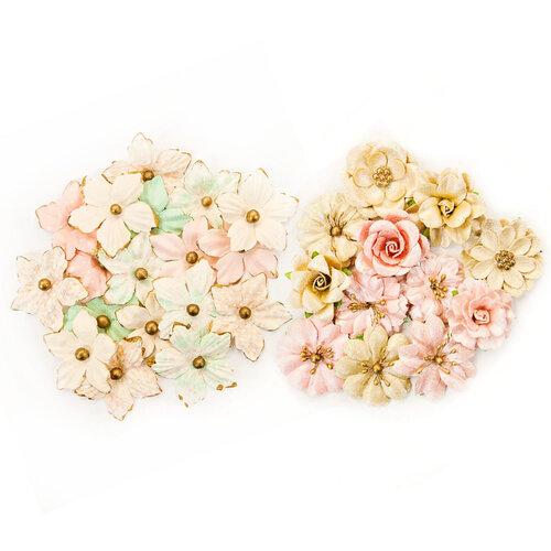 Prima - Santa Baby Collection - Christmas - Flower Embellishments - Kit 2