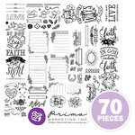 Prima - Love Faith Scrap Collection - Cling Mounted Rubber Stamps - Trio Bundle