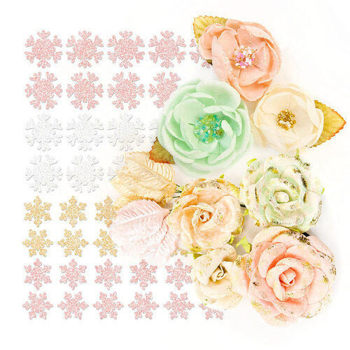 Prima - Santa Baby Collection - Mini Embellishment Kit - 59 Piece Bundle