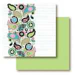Paper Trunk - Jellybean Collection - 12 x 12 Double Sided Paper - Lemon Lime, CLEARANCE