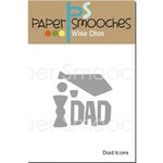 Paper Smooches - Dies - Dad Icons