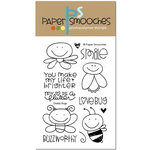 Paper Smooches - Clear Acrylic Stamps - Giddy Bugs
