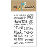 Paper Smooches - Clear Acrylic Stamps - Sentiment Sampler