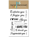 Paper Smooches - Clear Acrylic Stamps - I Blank You