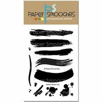 Paper Smooches - Clear Acrylic Stamps - Positive Strokes Two