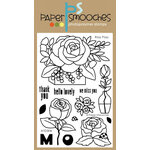 Paper Smooches - Clear Acrylic Stamps - Rosy Posy