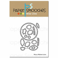 Paper Smooches - Dies - Wavy Wishes Icons