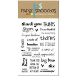 Paper Smooches - Clear Acrylic Stamps - Many Thanks