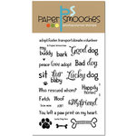 Paper Smooches - Clear Acrylic Stamps - Lucky Dog Two