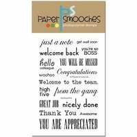 Paper Smooches - Clear Acrylic Stamps - Noteworthy